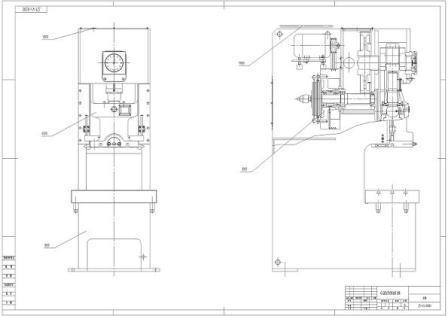 jh21压力机图纸_开式单点压力机图纸图片