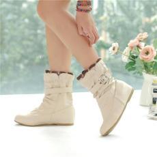 時尚平底女靴