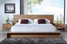 北歐籬笆 踏踏米床 1.8米床 榆木床 可定制