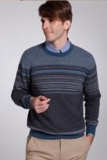 蓝花羊绒衫