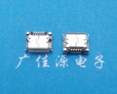 手机连接器-micro-USB-5.9-母座-插板带柱