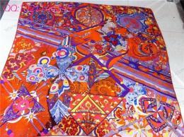 Hermes丝巾 真丝140cm大方巾