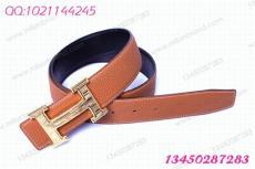 1781 拉丝金条纹爱马仕皮带 Hermes