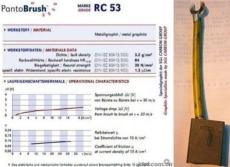 RC53进口铜刷 RC53铜刷价格 碳刷图片