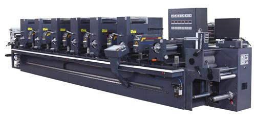 商标印刷机_炬业间歇式六色凸版轮转标签印刷机