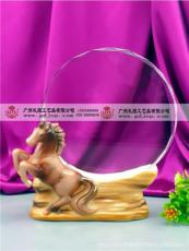 陶瓷马底座奖牌 马年度年会纪念品