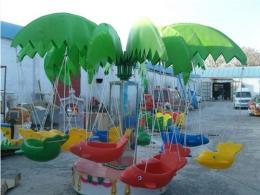 廣場12座兒童電動旋轉小飛椅飛魚廠家