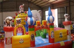 新款60平米中小型儿童充气蹦蹦床厂家