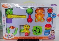 嬰幼兒童床鈴搖鈴響錘鈴鼓組合套裝音樂玩具