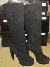 時尚中高檔女皮靴工廠下單定做