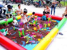 广东哪里有卖儿童充气沙池 沙滩池价格