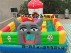 蘑菇乐园小型儿童充气城堡 汽包玩具