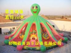圆形章鱼大型充气城堡 最新款充气城堡