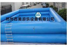 雙層加高兒童充氣水池 充氣游泳池定做