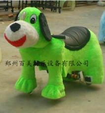 毛绒玩具车 年终新型动物毛绒电动车