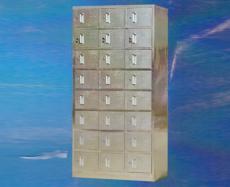 不锈钢二十四门柜