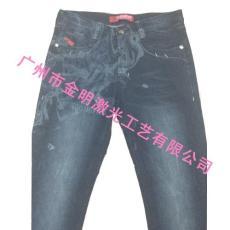 牛仔褲印花