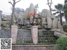 重庆大型假山护坡景观造景与塑石护坡制作