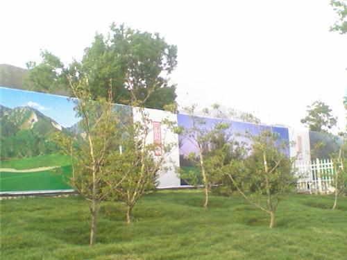 楼盘工地围挡_波尔多庄园的相册波尔多庄园围挡实景图201