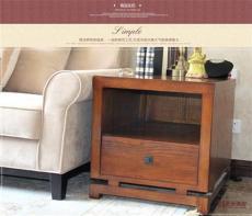 美式鄉村角柜 客廳沙發邊幾 實木簡約床頭柜