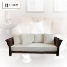 美國紅橡木三人沙發 美式簡約實木沙發組合